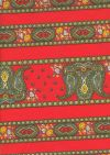 ROT44 Indienne Paisley rouge stripes